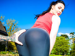 Aletta Ocean  in Working Out With Aletta porn tube video
