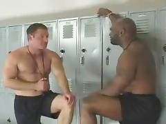 Orgy Interracial in the Locker Room porn tube video