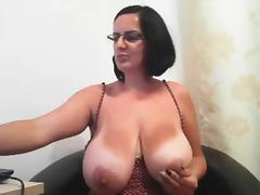 Big boobs mature glasess