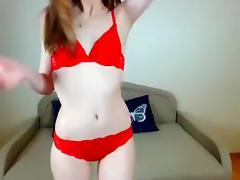 Pretty Roxxane masturbates and plays with a rubber dildo porn tube video