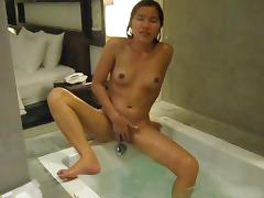 Jaripha suticost strips naked in bath shows all