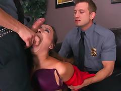 Police officers crazy hardcore pussy play with Ashley Adams