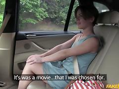 Sasha in Passenger Rides Her Biggest Cock - FakeTaxi