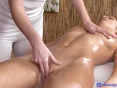 Angella & Charlotta in Charlotta On Angella - MassageRooms