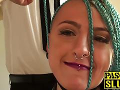 Horny chick Orion Starr gets dominated and banged hardcore
