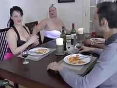 Granny chubby hardcore group sex with friends thats how dinner party gone wrong porn tube video