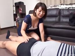 Beautiful Wakaba Onoe always rides the stiff dick with a smile