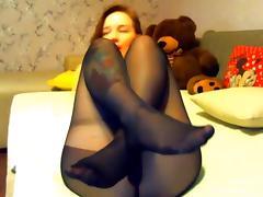 sarah encasement lick her nylon feet and dildo porn tube video