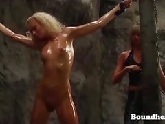 Gorgeous Naked Girl Whipped In Bondage