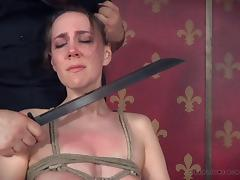 tied up and punished by a cruel master