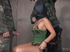BDSM, Army, BDSM, Big Tits, Deepthroat, MILF