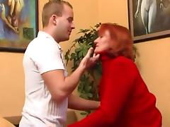 Mom and Boy, Granny, Lucky, Mature, Old, Pussy