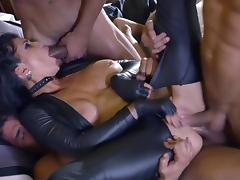 Obedient whore gangbang sex along males with huge dicks porn tube video