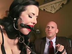 Obedient female accepts man to bang hard both her love holes