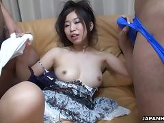 Yuka has a pair of cocks she gladly spends time with