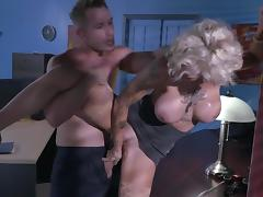 office milf tries new guy's heavy cock during overtime porn tube video