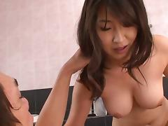 Japanese brunettes enjoying the pussy drilling that they like so much