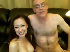 Chinese girl and older white guy tube porn video
