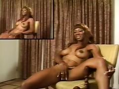 Black Babe Masturbates For The Audition