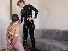 Femdom Dominatrix in Paris Mistress M loves to whip men porn tube video