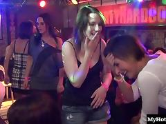 Seductive honeys enjoy having some kinky fun in the club porn tube video