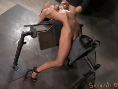 Kinky tart gets bound and fucked by a machine really hard porn tube video
