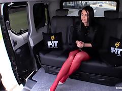 Fucked In Traffic - Russian babe Kira Queen fucks in the car porn tube video
