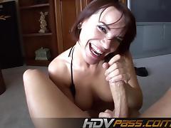 Brunette Babe Dana Dearmond Suck a Big Cock i Pov View
