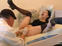 French, Amateur, Anal, Assfucking, Brunette, Cum in Mouth