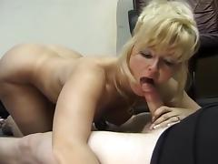 Blonde Nimpho Gives Hard Core Head
