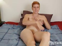Redhead Aurora Masturbating Her Hairy Twat porn tube video