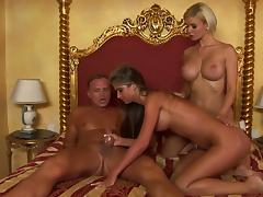 Two Lesbians Also Need A Stiff Cock Up Their Asses!