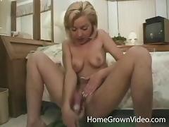 Retro gangbang adventure for a blonde with a pair of natural tits