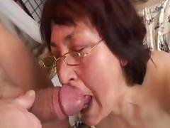 Hairy granny in glasses fucked by boy porn tube video