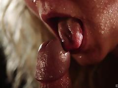 Fully-wet babe rides the thick cock in the room full of darkness porn tube video