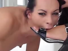 Incredible Lesbian Foot Domination and Fisting tube porn video