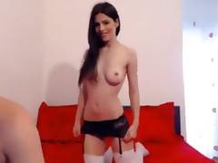 StudentsXXX. Pretty brunette sucks dick and fucks with her boyfriend porn tube video