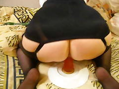 Pushaka black open bottom girdle porn tube video