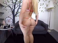 VR - Big Butt AJ Applegate Fucks Herself On The Couch