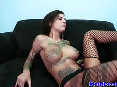 Busty lezdom squirts after using vibrator porn tube video