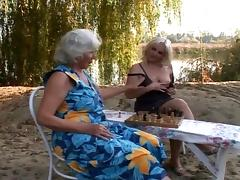 Hairy grannies fuck outdoors tube porn video