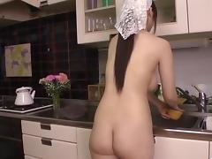 Kitchen hardcore along big tits, Rie Tachikawa porn tube video