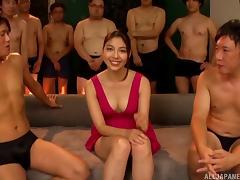 Gangbang adventure with lots of sticky cum for the sexy Saryuu porn tube video