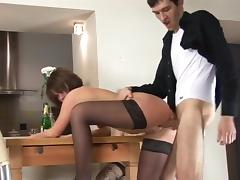 Conducts training at home. porn tube video