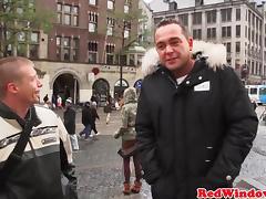 Amsterdam prostitute gets cumshowered porn tube video