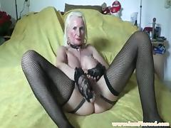 I am pierced granny with pussy piercings and chains porn tube video