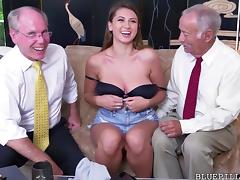 Ivy Rose gets fucked by old grandpa tube porn video