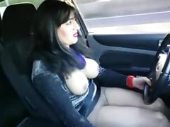 driving topless porn tube video