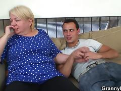 Picking up and fucking blonde granny from behind porn tube video