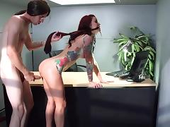 Monique Alexander fucked at work by guy with monster dick